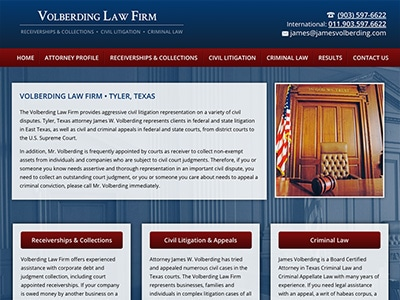 Law Firm Website design for Volberding Law Firm