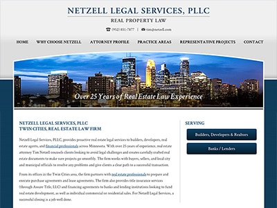 Law Firm Website design for Netzell Legal Services, P…