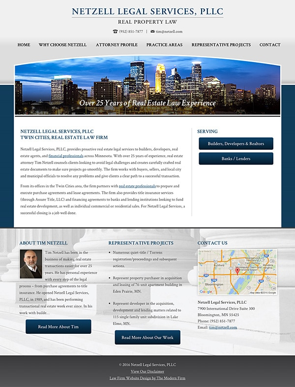 Law Firm Website Design for Netzell Legal Services, PLLC