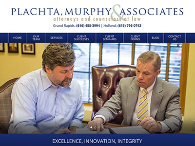 Law Firm Website design for Plachta, Murphy & Associa…