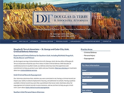 Law Firm Website design for Douglas D. Terry & Associ…