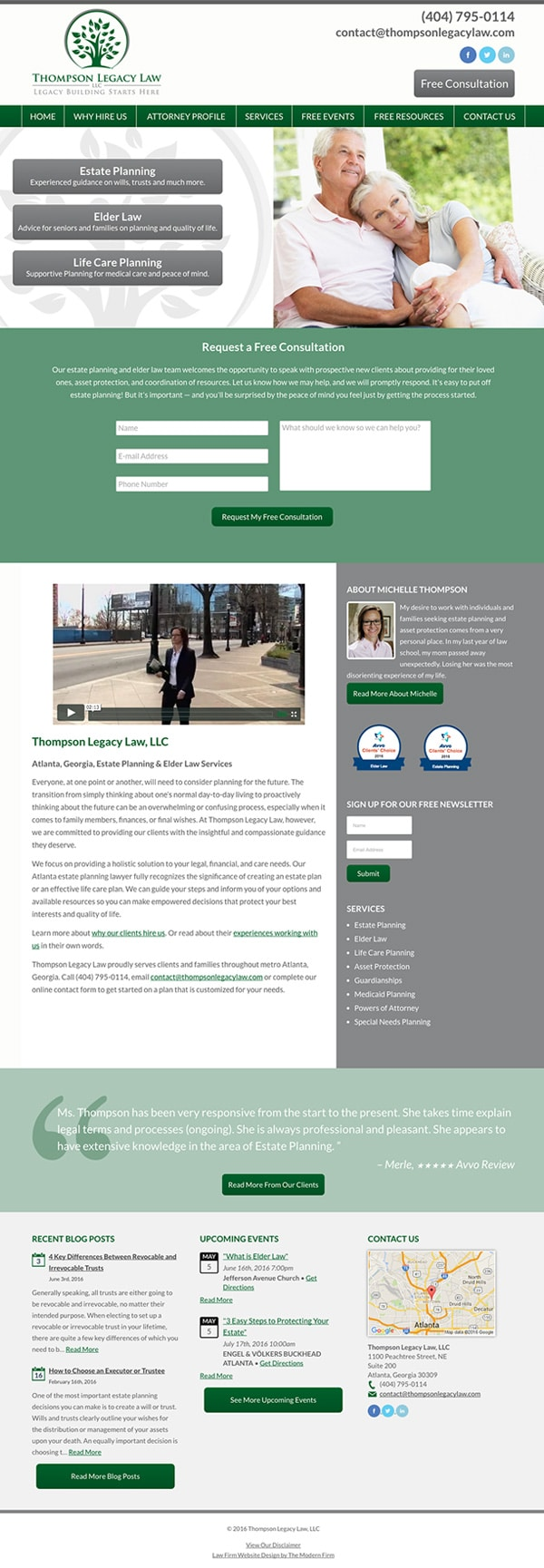 Law Firm Website Design for Thompson Legacy Law, LLC