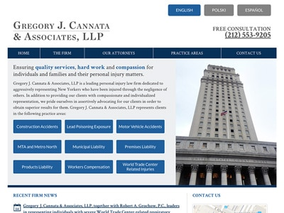 Law Firm Website design for Gregory J. Cannata & Asso…