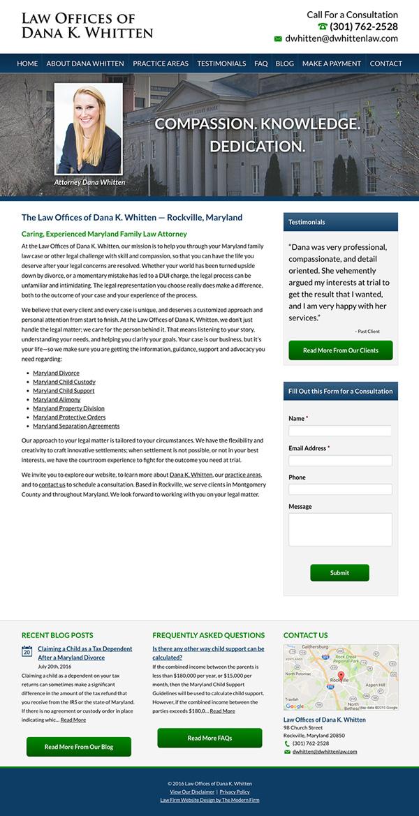Law Firm Website Design for Law Offices of Dana K. Whitten