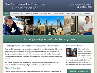 Law Firm Website design for The Employment Law Firm G…