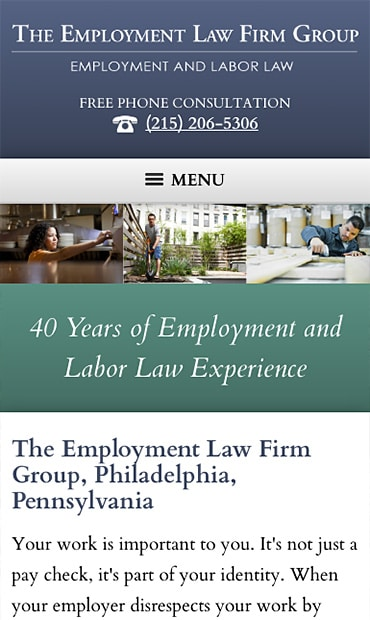 Responsive Mobile Attorney Website for The Employment Law Firm Group