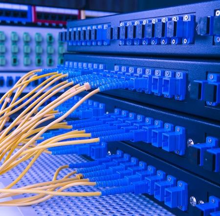 Lots of Pretty Fiber Optic Cables