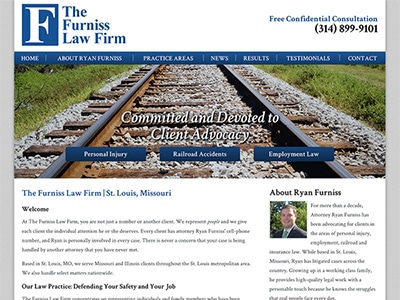 Law Firm Website design for The Furniss Law Firm, LLC