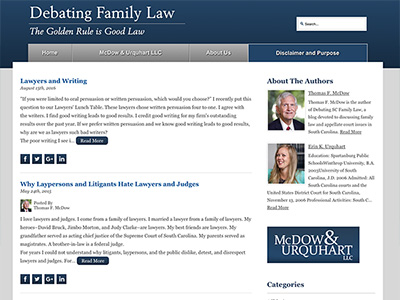 Law Firm Website design for McDow & Urquhart LLC