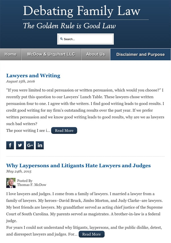 Mobile Friendly Law Firm Webiste for McDow & Urquhart LLC