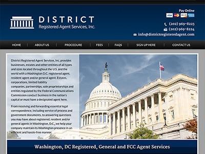 Law Firm Website design for District Registered Agent…