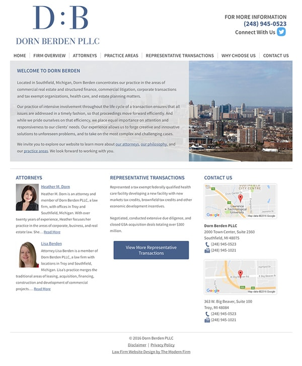 Law Firm Website Design for Dorn Berden PLLC