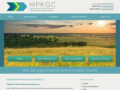 Law Firm Website design for Maier Pfeffer Kim Geary &…