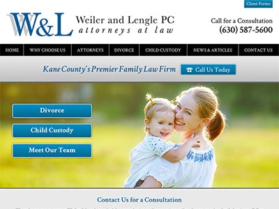 Law Firm Website design for Weiler & Lengle, P.C.