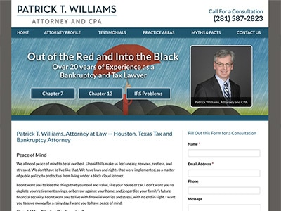 Law Firm Website design for Law Office of Patrick T.…