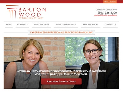 Law Firm Website design for BartonWood