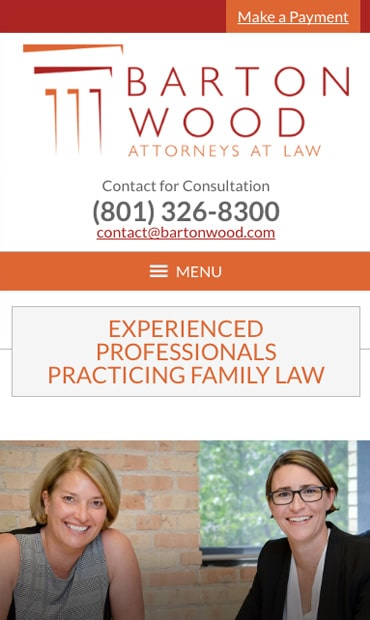 Responsive Mobile Attorney Website for BartonWood