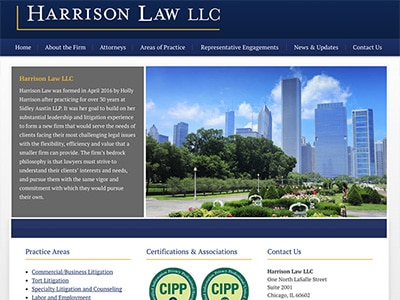 Law Firm Website design for Harrison Law LLC