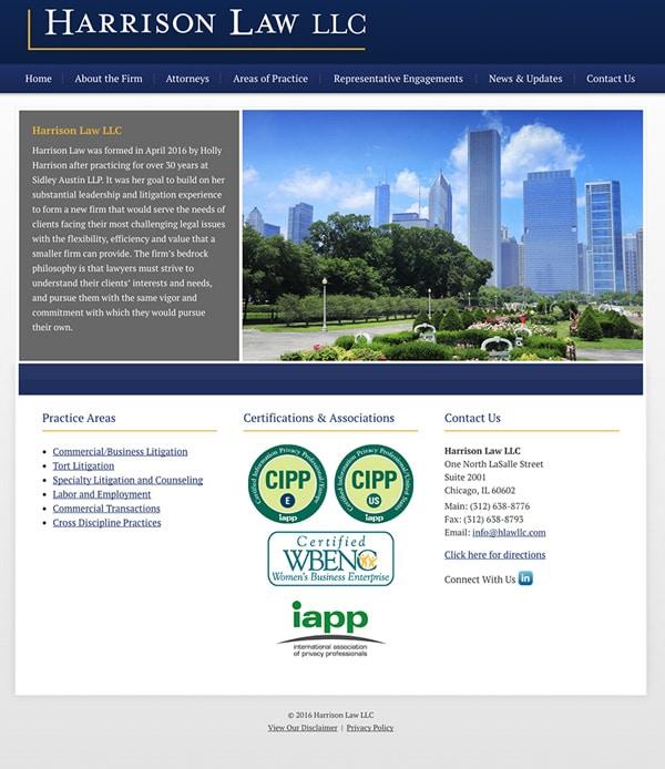 Law Firm Website Design for Harrison Law LLC