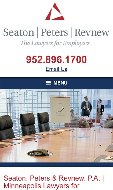 Responsive Mobile Attorney Website for Seaton, Peters & Revnew, P.A.