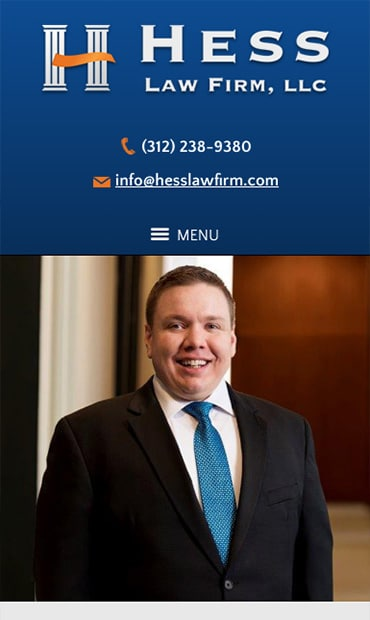 Responsive Mobile Attorney Website for Hess Law Firm, LLC
