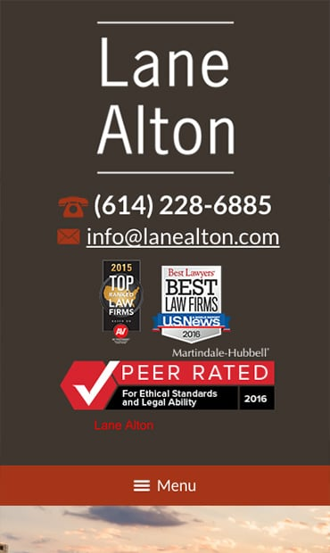 Responsive Mobile Attorney Website for Lane Alton