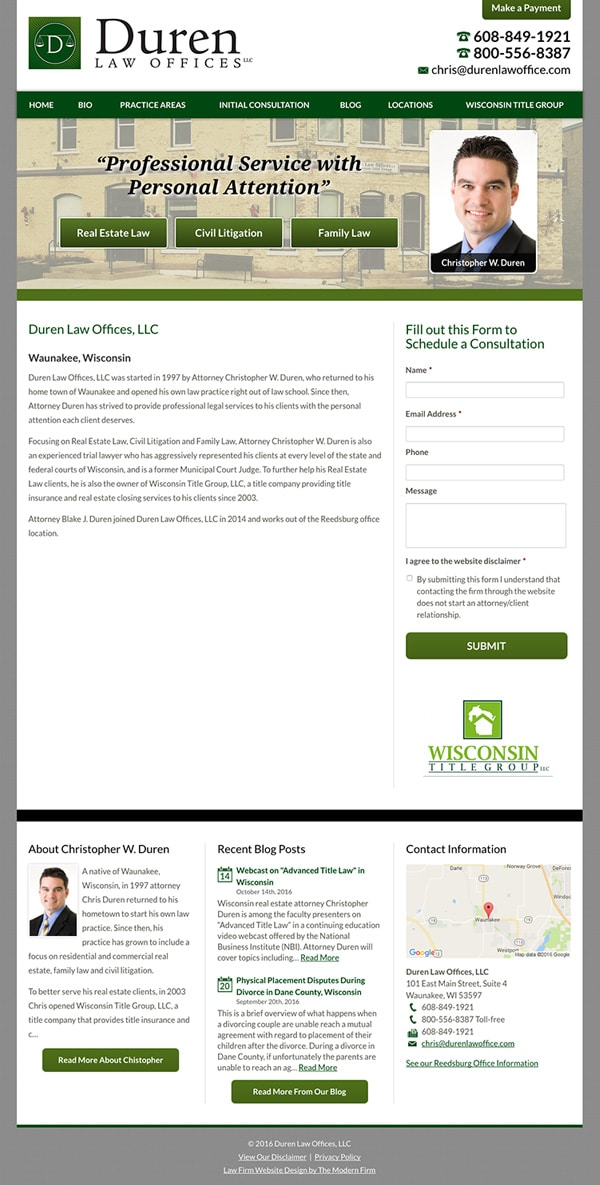Law Firm Website Design for Duren Law Offices, LLC
