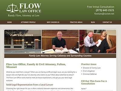 Law Firm Website design for Flow Law Office