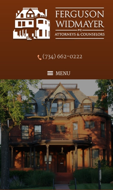 Responsive Mobile Attorney Website for Ferguson Widmayer PC