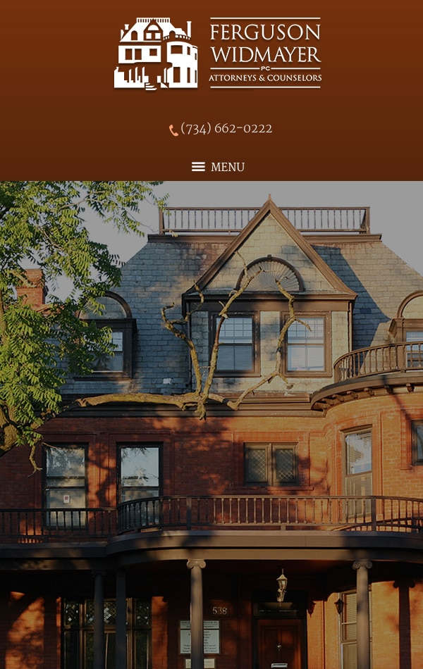 Mobile Friendly Law Firm Webiste for Ferguson Widmayer PC