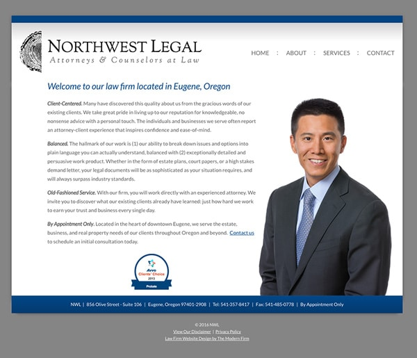 Law Firm Website Design for Northwest Legal