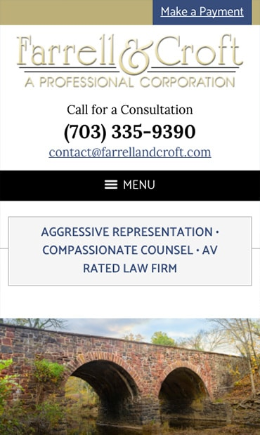 Responsive Mobile Attorney Website for Farrell & Croft, P.C.