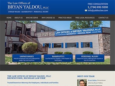 Law Firm Website design for The Law Offices of Bryan…