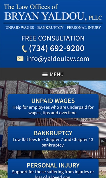 Responsive Mobile Attorney Website for The Law Offices of Bryan Yaldou, PLLC