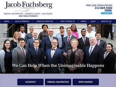 Law Firm Website design for The Jacob Fuchsberg Law F…
