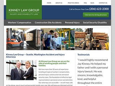 Law Firm Website design for Kinney Law Group