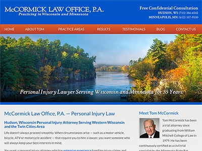 Law Firm Website design for McCormick Law Office, P.A…