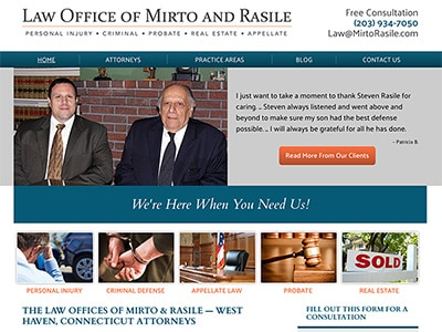 Law Firm Website design for The Law Offices of Mirto…