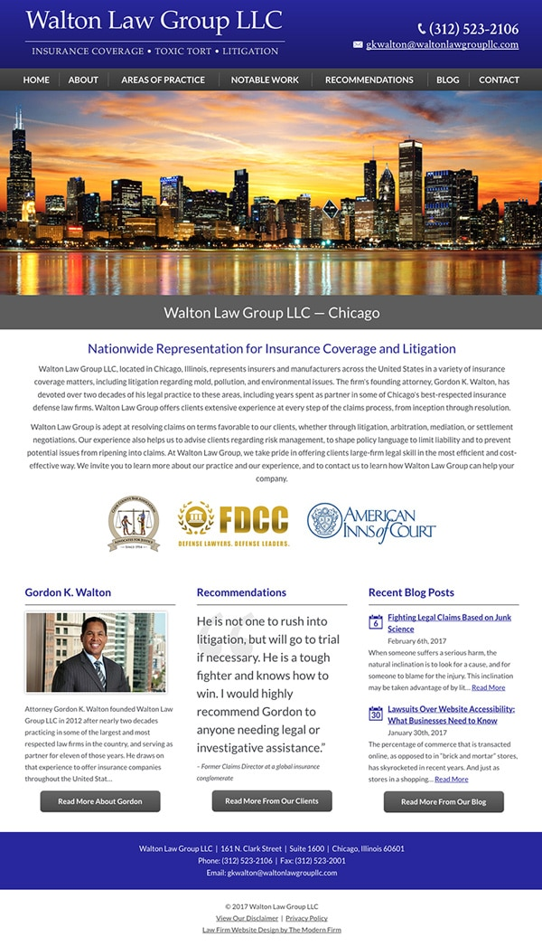 Law Firm Website Design for Walton Law Group LLC
