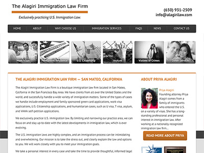 Law Firm Website design for The Alagiri Immigration L…