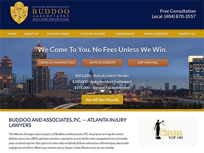 Law Firm Website design for Buddoo and Associates, P.…