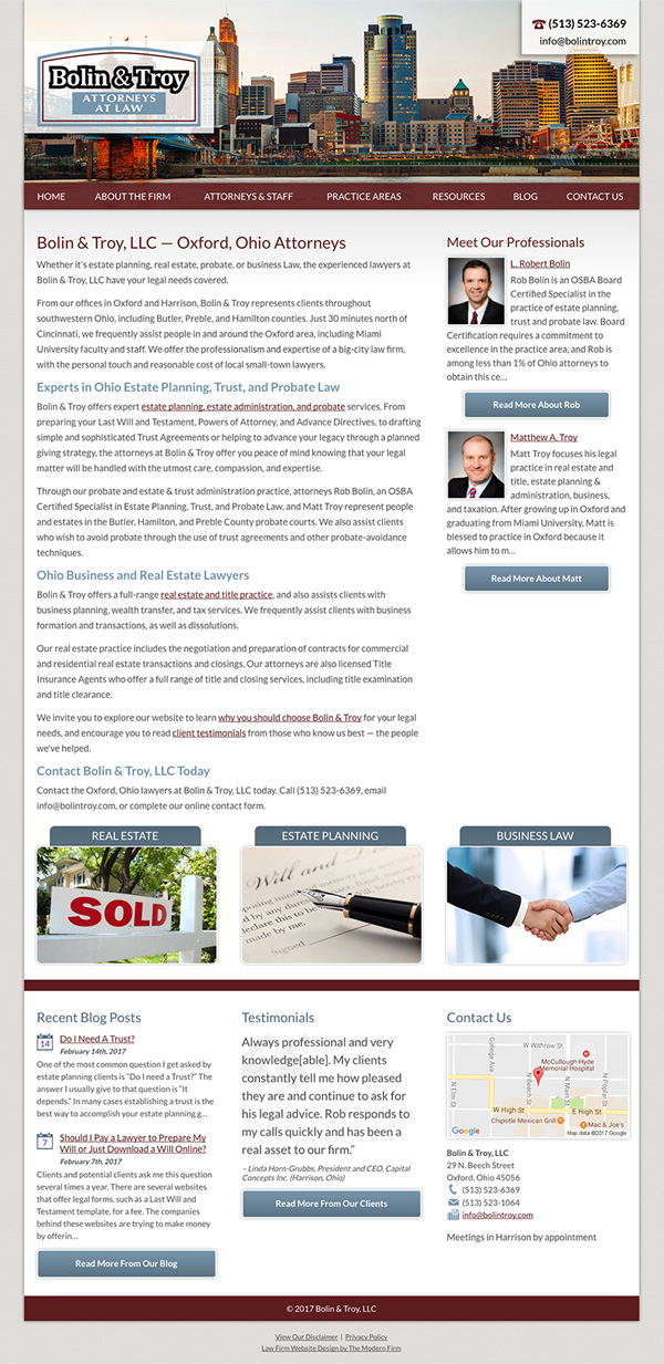 Oh Law Firm >> Oxford Oh Law Firm Website By The Modern Firm