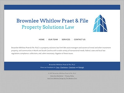 Law Firm Website design for Brownlee Whitlow Praet &…