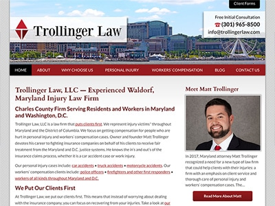 Law Firm Website design for Trollinger Law LLC