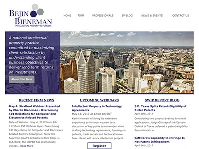 Law Firm Website Design for Bejin Bieneman, PLC