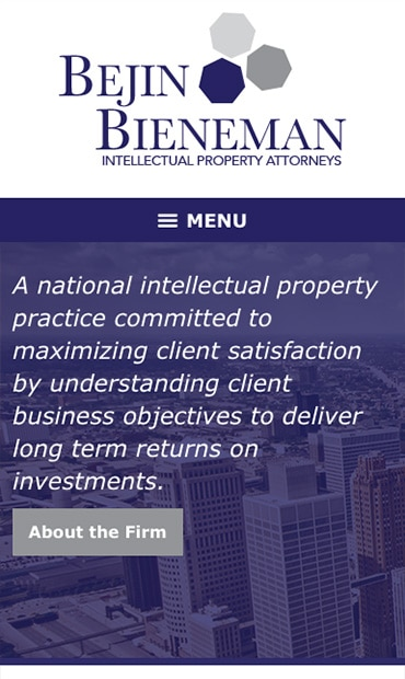 Responsive Mobile Attorney Website for Bejin Bieneman, PLC