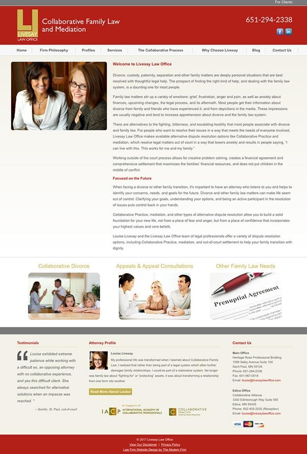 Law Firm Website Design for Livesay Law Office