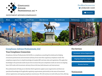 Law Firm Website design for Compliance Advisor Profes…