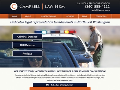 Law Firm Website design for Campbell Law Firm