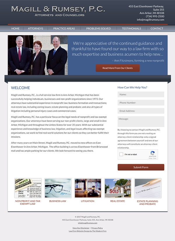 Law Firm Website Design for Magill and Rumsey, P.C.